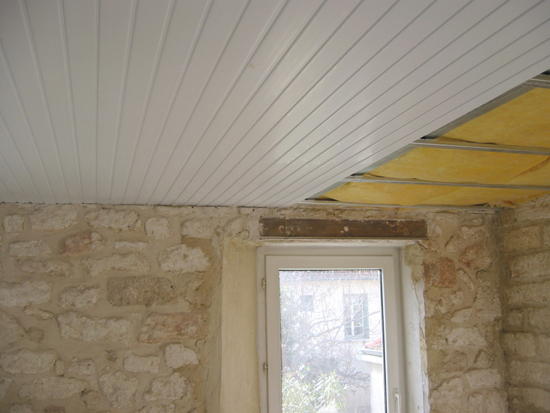 D coration solution mid for Pose d un plafond en lambris pvc